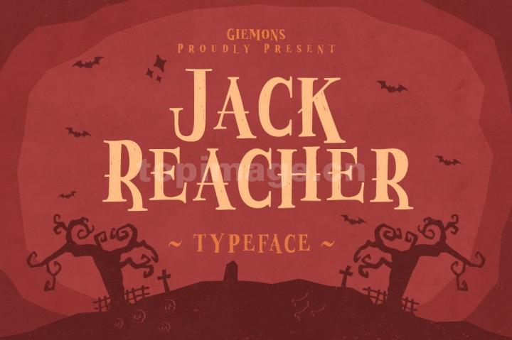 Jack_Reacher简约复古衬线个性海报logo英文字体下载