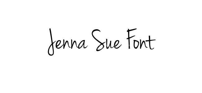 JennaSue手写签名艺术英文字体下载