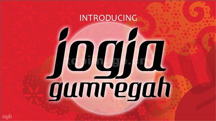 Nyk Jogja Gumregah个性圆润适合logo英文字体下载