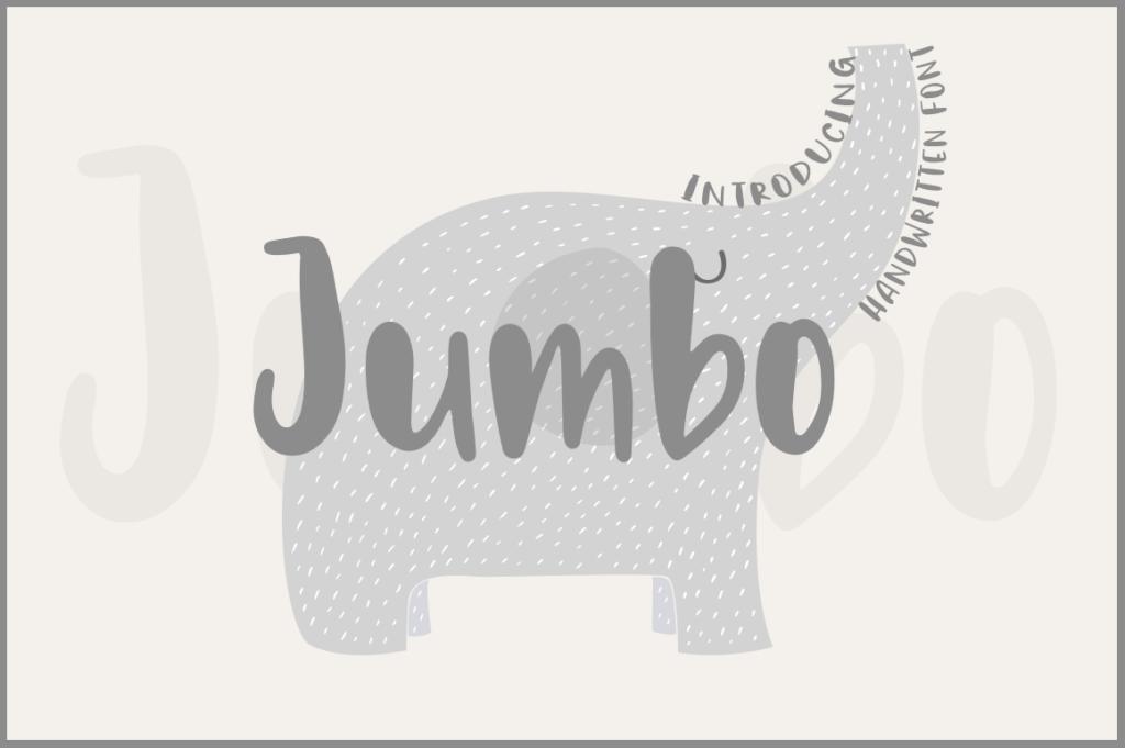 jumbo手绘装饰插画手写英文字体下载