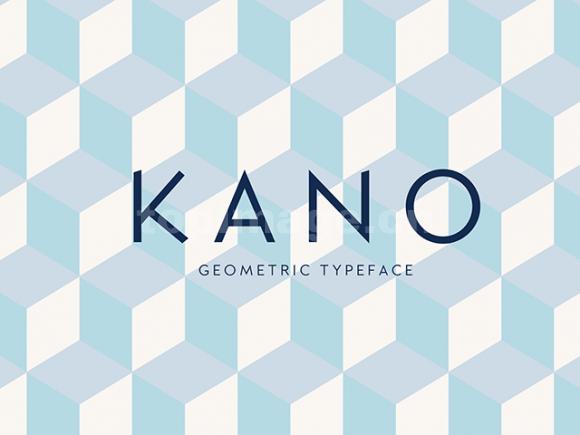 kano简洁纤细英文方块字体下载
