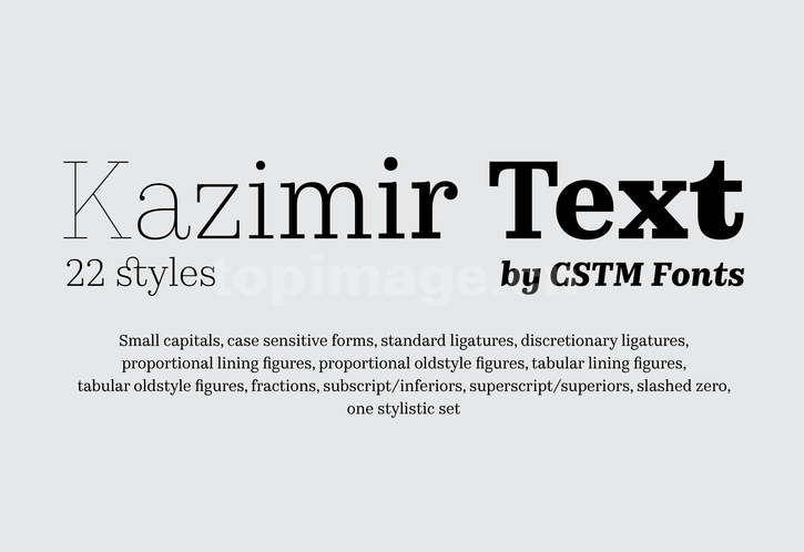 Kazimir衬线复古纤细好看的英文字体下载