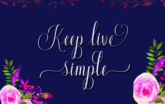 keep live simple花体连笔婚礼英文字体下载