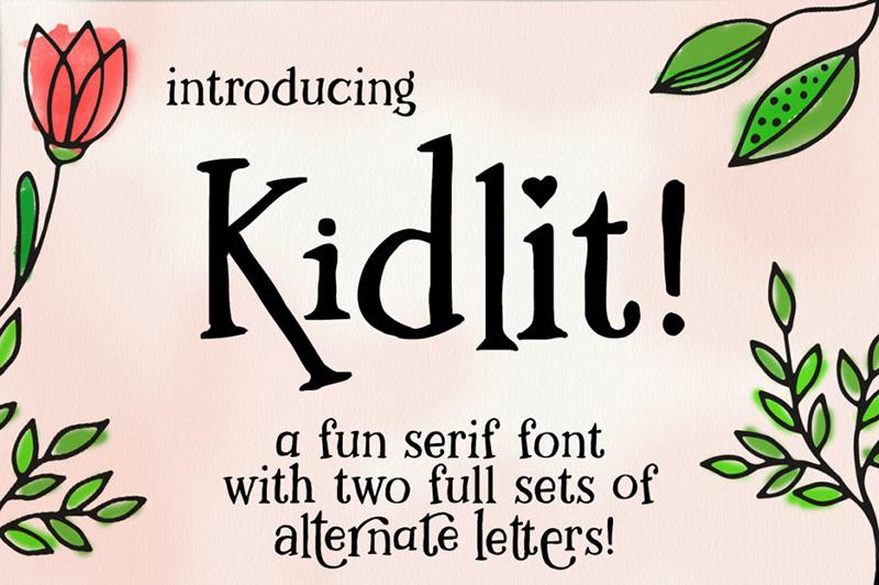 kidlit手绘海报趣味个性英文字体下载