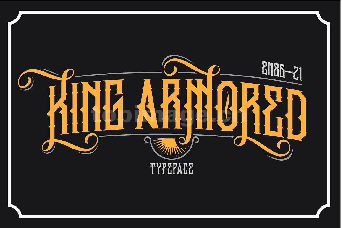 King_Armored哥特式个性海报英文字体下载