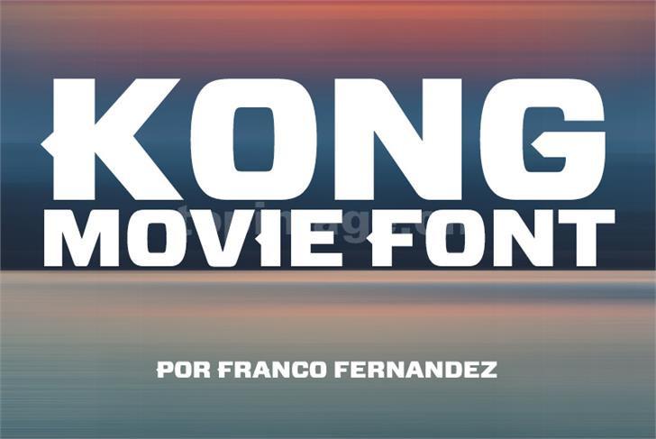 Kong Movie Font简约个性质感海报英文字体下载
