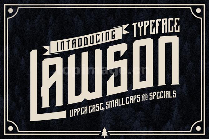Lawson哥特式海报logo英文字体下载