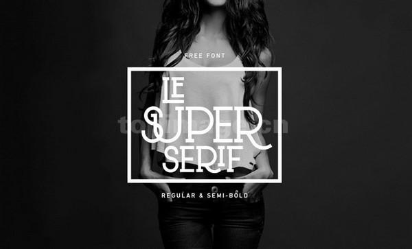 Le_Super现代简洁海报好看的英文字体下载