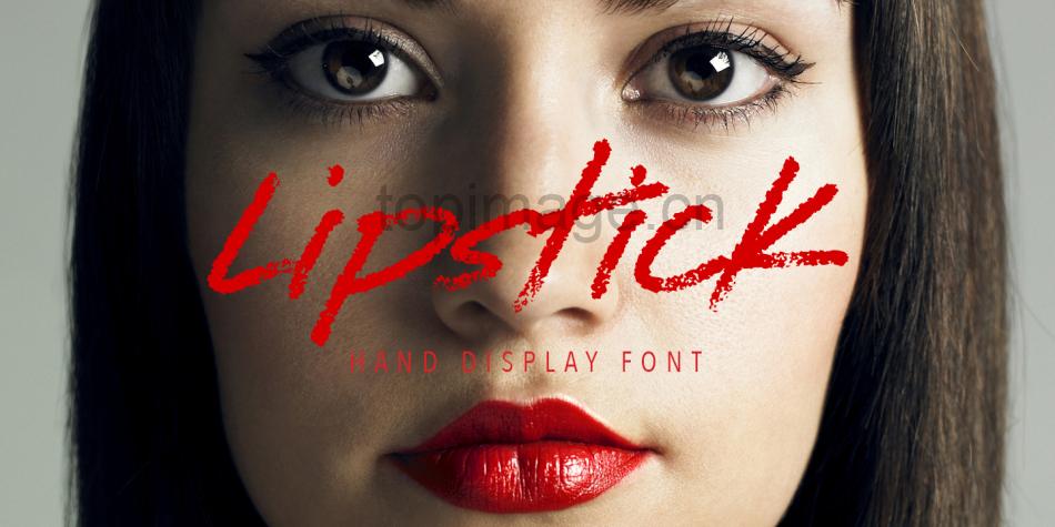 lipstick笔刷蜡笔唯美手写简洁英文字体下载