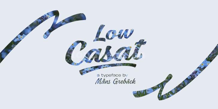 low-casat笔刷书法大气英文字体下载