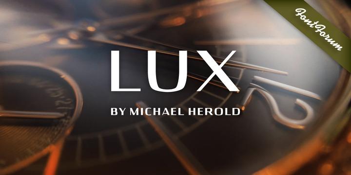 Lux无衬线现代力士logo英文字体下载
