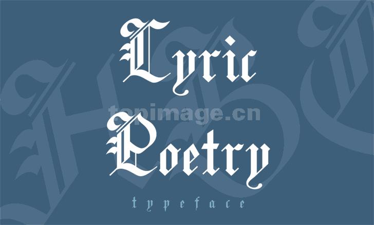 lyric-poetry哥特式个性海报英文字体下载