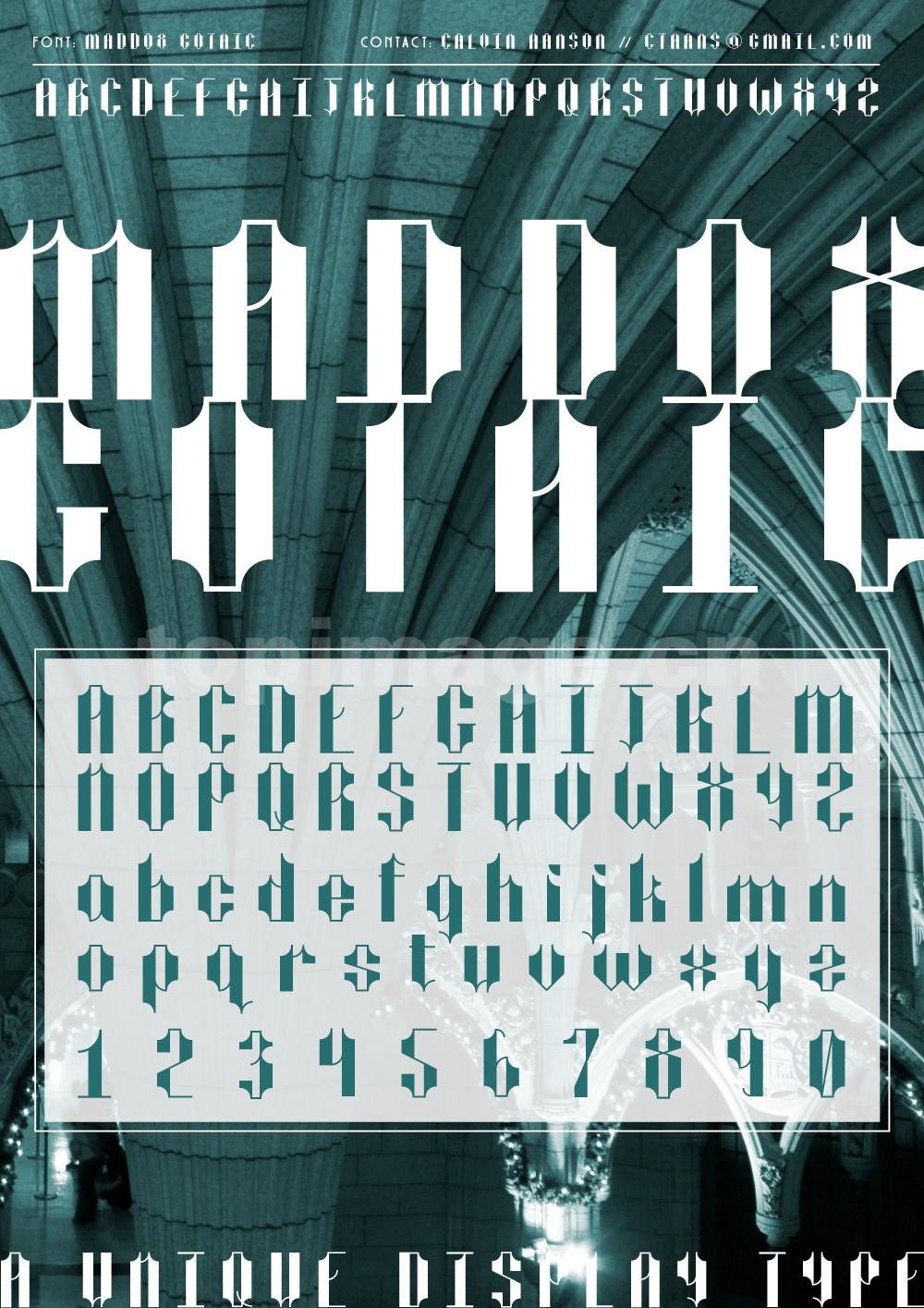 Maddox哥特式个性化海报英文字体下载