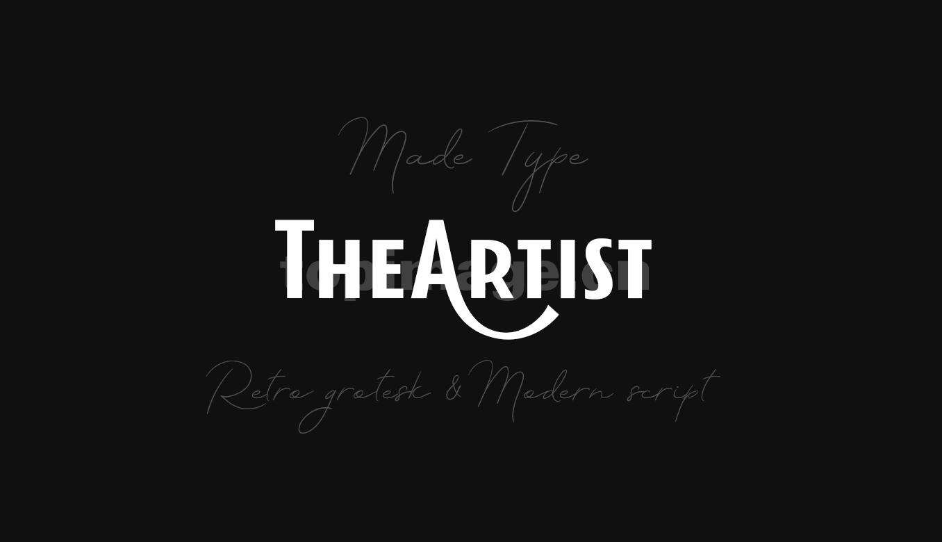 MADE theartist 现代logo海报英文字体下载