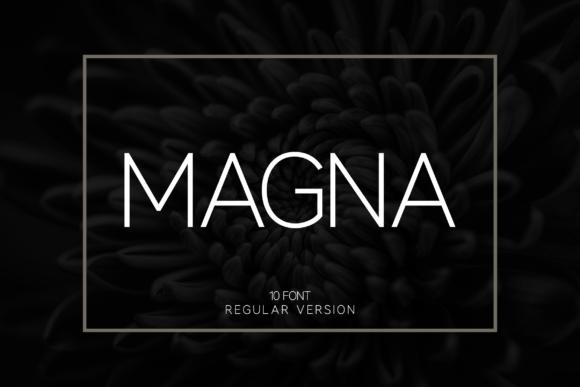 Magna现代无衬线sans极简品牌标志英文字体下载