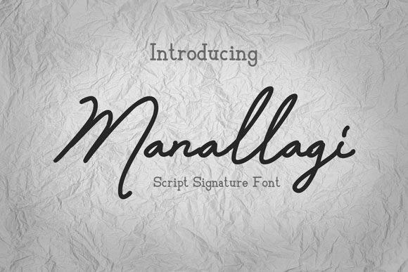 manallagi个性手写连笔英文字体下载