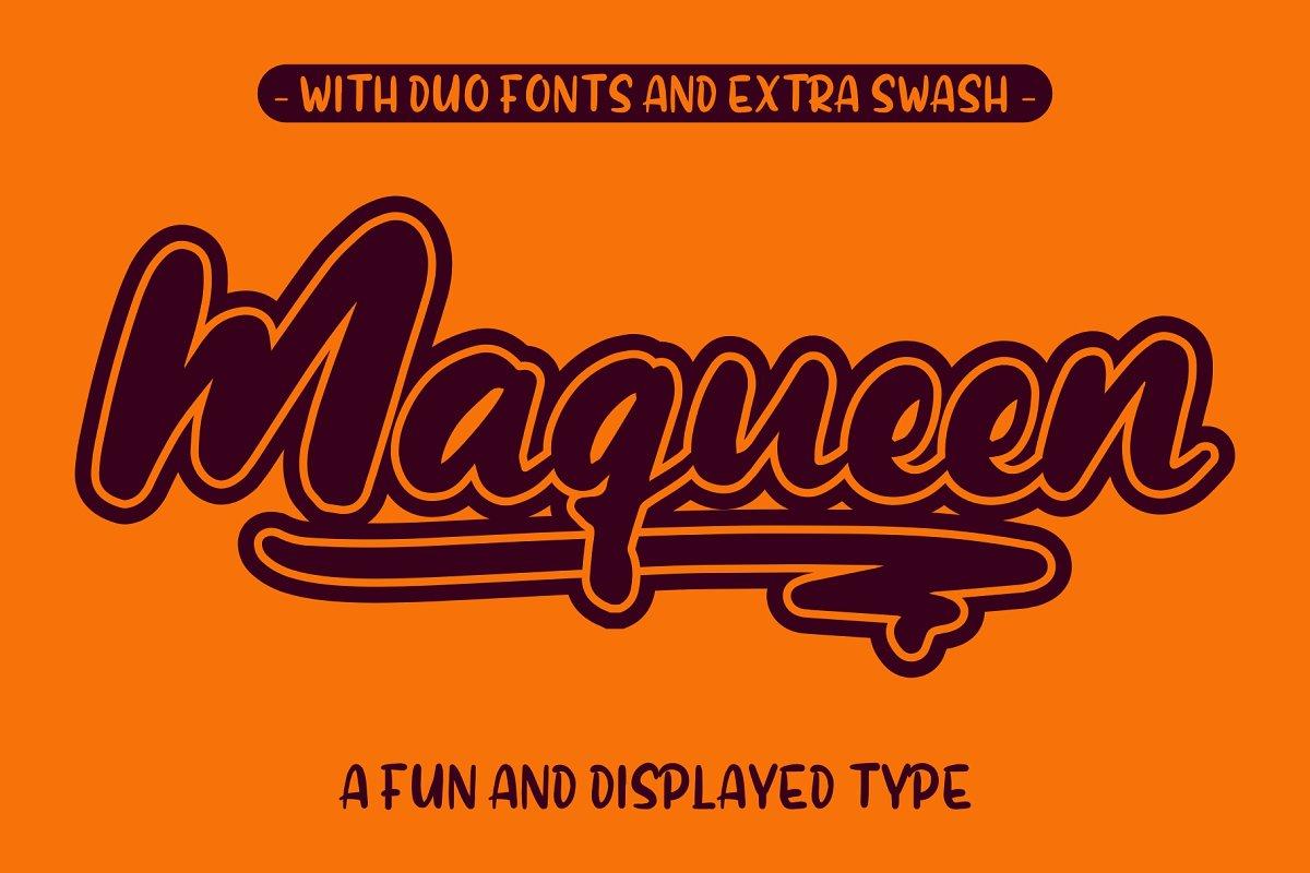 maqueen 有趣可爱卡通英文字体下载