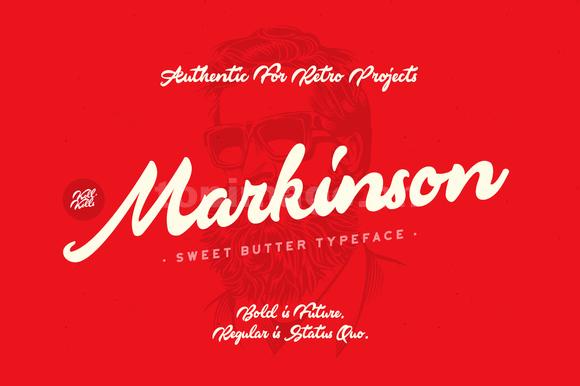 markinson书法手写英文字体大气飘逸下载