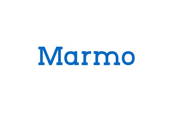 Marmo现代衬线简洁优雅logo好看的英文字体下载