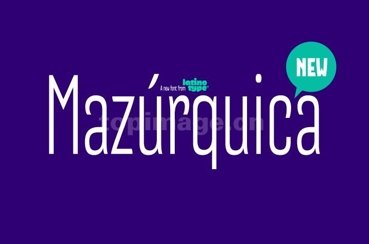 Mazurquica时尚简约海报现代好看的英文字体下载