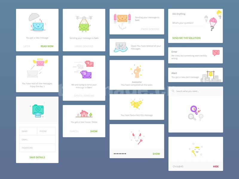 空状态 情感化图标 设计 空页面 icon矢量sketch下载
