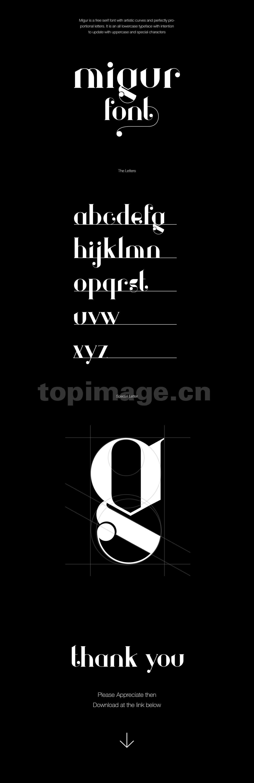 migur哥特式异形英文字体个性衬线下载