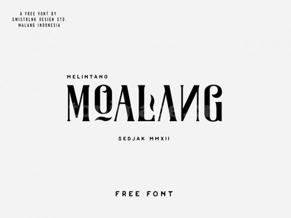 moalang衬线英文异形字体下载