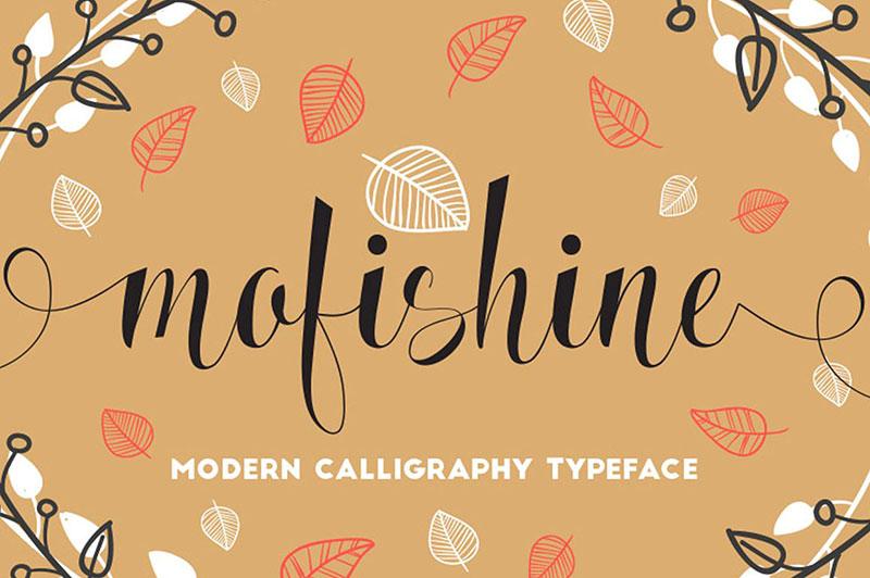 mofishine手写创意手绘海报英文字体下载