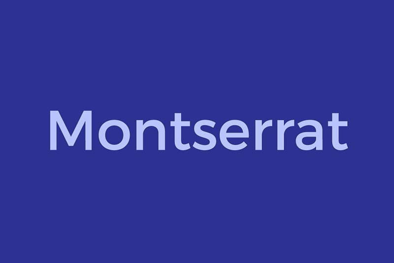 montserrat现代英文排版字体下载