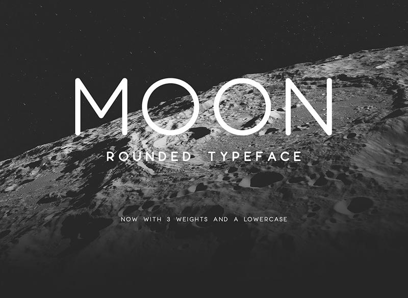 moon现代简洁logo英文字体下载