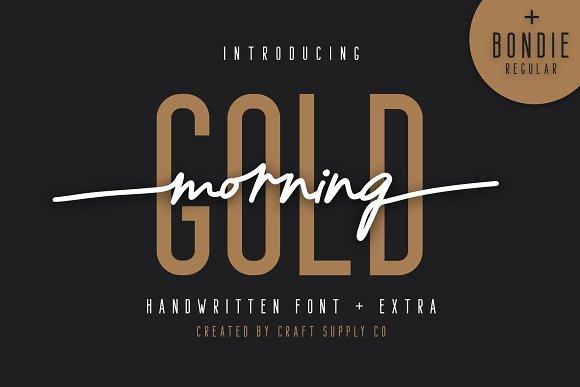 morning gold现代无衬线及连笔手写英文字体下载