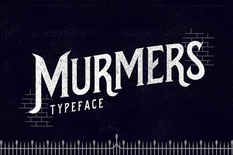 murmers手写哥特式个性创意英文字体下载