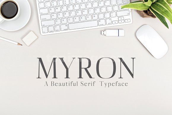 Myron衬线海报时尚英文字体下载