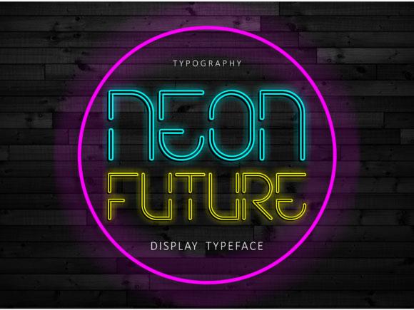 Neon Future现代无衬线霓虹灯英文字体下载