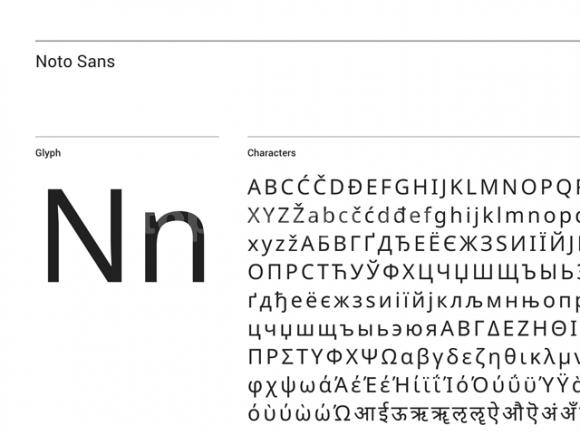 noto简约现代印刷英文字体下载
