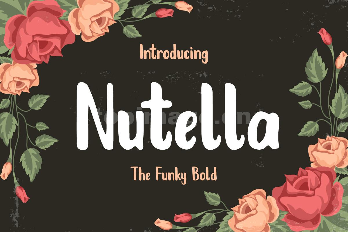 nutella手绘手写粗英文字体海报唯美字体下载