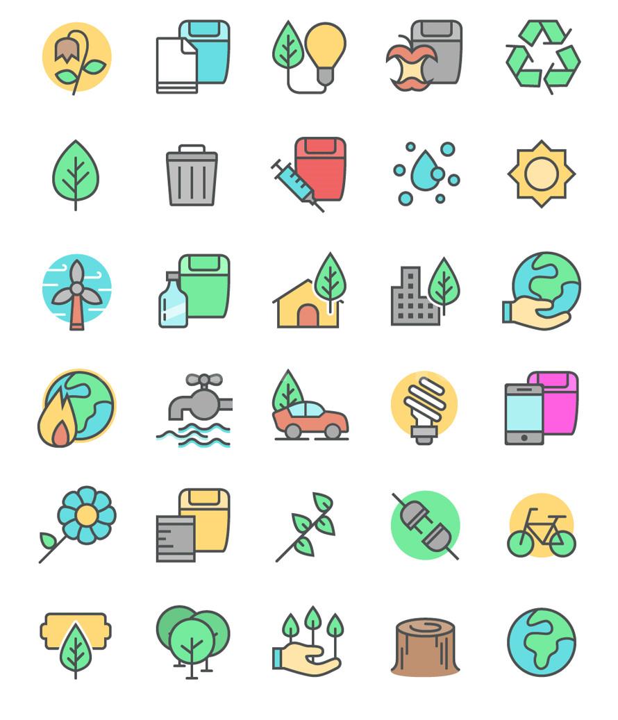能源 绿色 低碳环保 植物 电池 节能 出行 icon下载