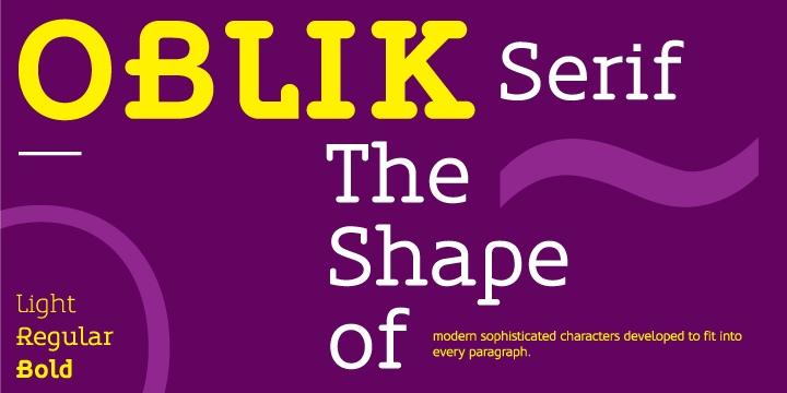 Oblik衬线等宽设计logo经典英文字体下载
