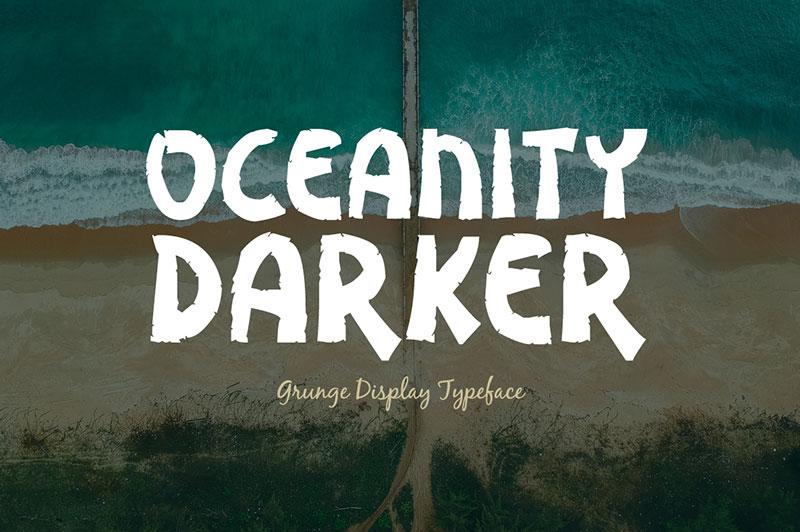 oceanity darke手写粗狂英文字体下载