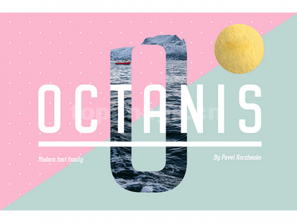 octanis时尚海报细长英文纤细英文字体下载