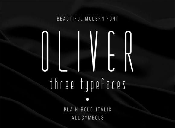 oliver极纤细长英文字体下载