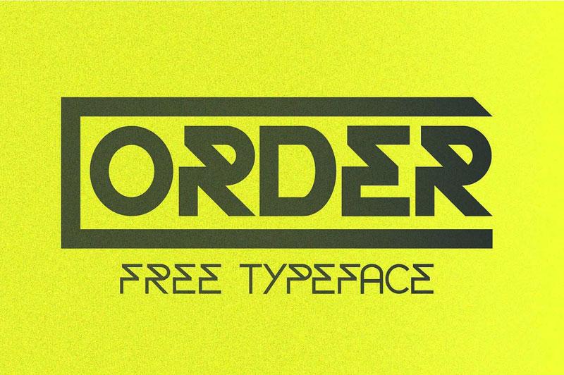 order现代创意logo英文字体下载