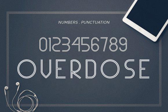 overdose现代无衬线logo简洁英文字体下载