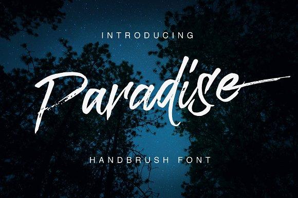 paradise个性书法笔触手写英文字体下载