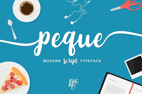 peque手写连笔现代英文字体下载