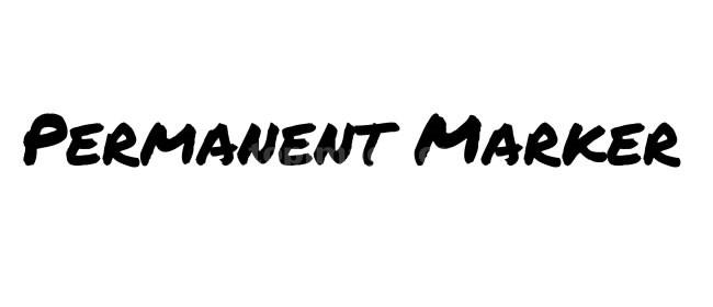 PermanentMarker笔刷手写手绘英文字体下载