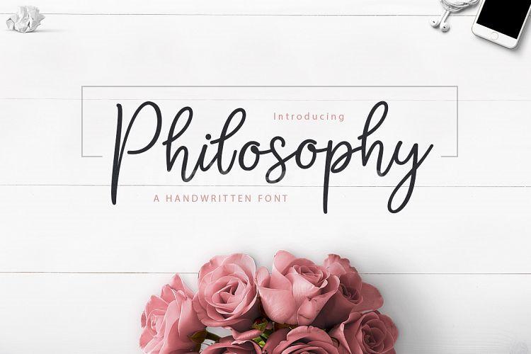 Philosophy手写个性化签名英文字体下载
