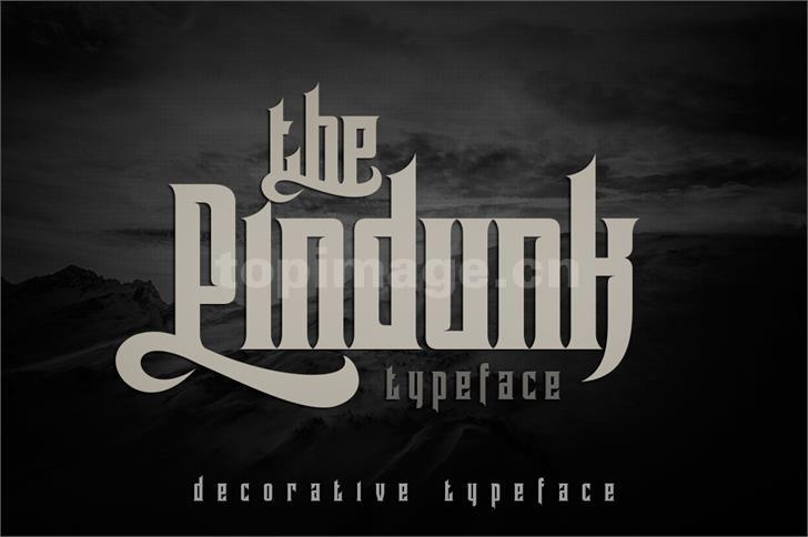 pindunk罗马个性哥特式海报英文字体下载