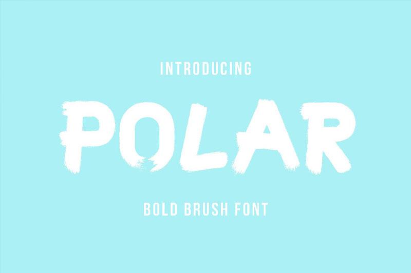 polar个性书法笔触英文字体下载