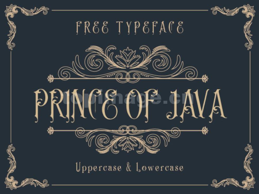 Prince-of-Java哥特式异形飘逸感个性海报英文字体下载